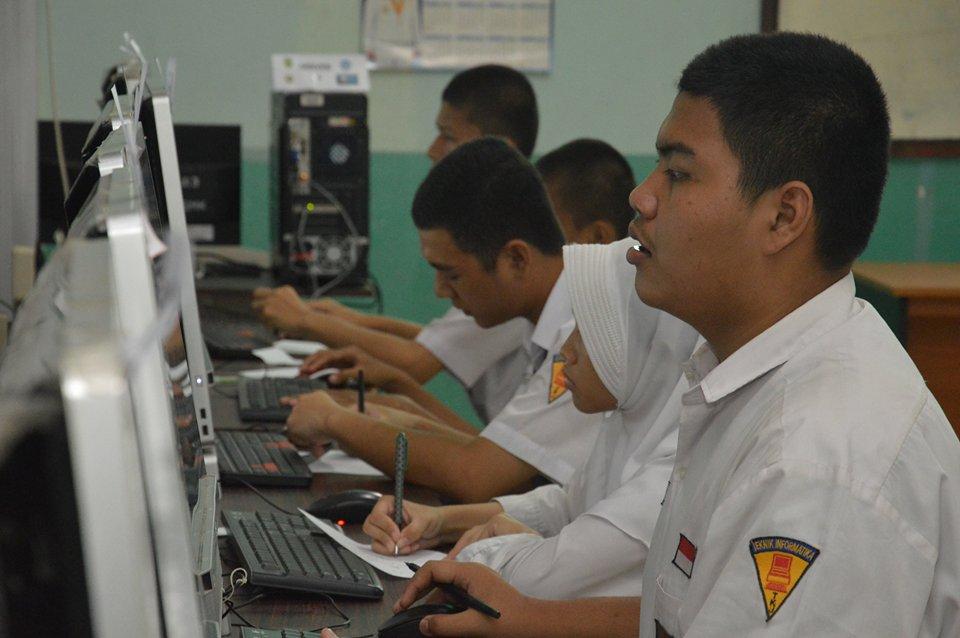 Simulasi UNBK di SMKN 2 Palembang