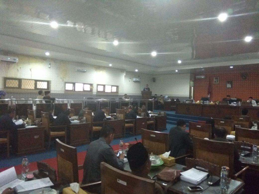 Suasana Rapat Paripurna DPRD Empat Lawang.